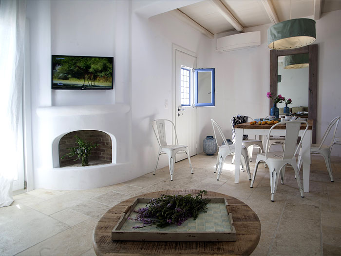 Kitchen Area of Dimitra Villa in Naoussa Paros