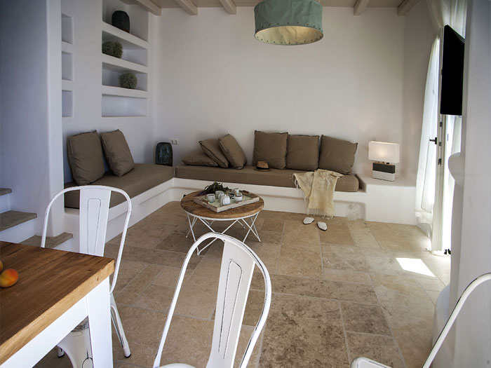 Living Room  of Dimitra Villa in Naoussa Paros